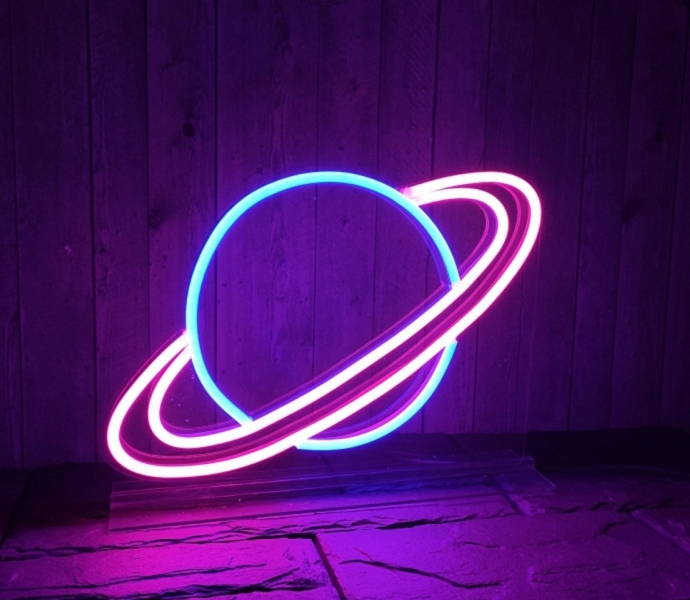 A Planet, Unbreakable Neon Sign, Transparent background, Wall Sign, Table Sign