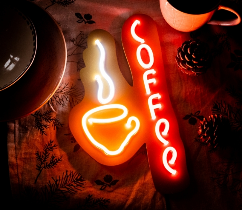 Coffee (small), Unbreakable Neon Sign, Neon letters