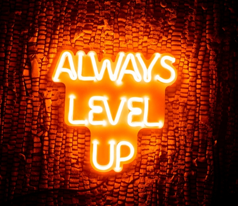 Always level up (small), Unbreakable Neon Sign, Neon letters
