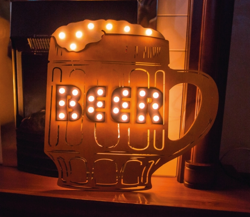Beer Sign Wall Lamp