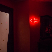 Red Arrow Unbreakable Neon Sign Night Light, Customized Colors & Directions